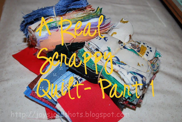 http://joysjotsshots.blogspot.com/2012/03/real-scrappy-quilt-part-1.html
