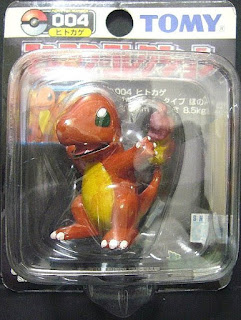 Charmander Pokemon figure Tomy Monster Collection black package series