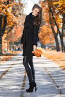 Pardesiu peplum negru TC104 (Ama Fashion)