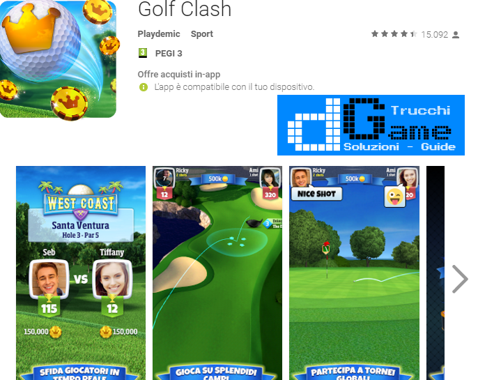Trucchi Golf Clash Mod Apk Android v4.1
