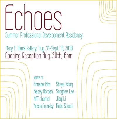 Echoes exhibition with NAT chantel.