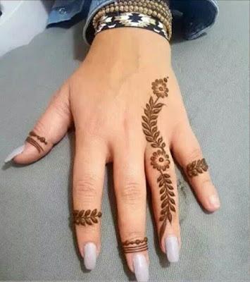 simple mehndi designs for kids fingers