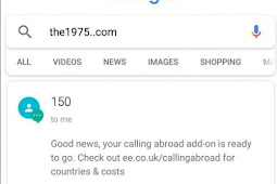 Mengetikan Kata the1975..com di Google Search Engine Akan Error