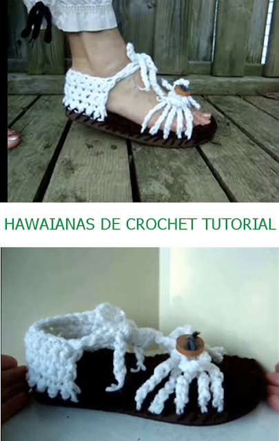 Hawaianas de Crochet Video Tutorial