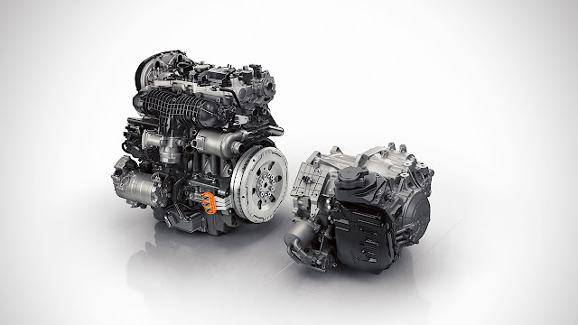 The all-new Volvo XC90 Twin Engine powertrain - crank ISG