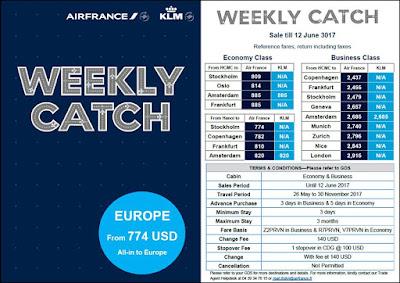 Deal sốc cuối tuần của Air France