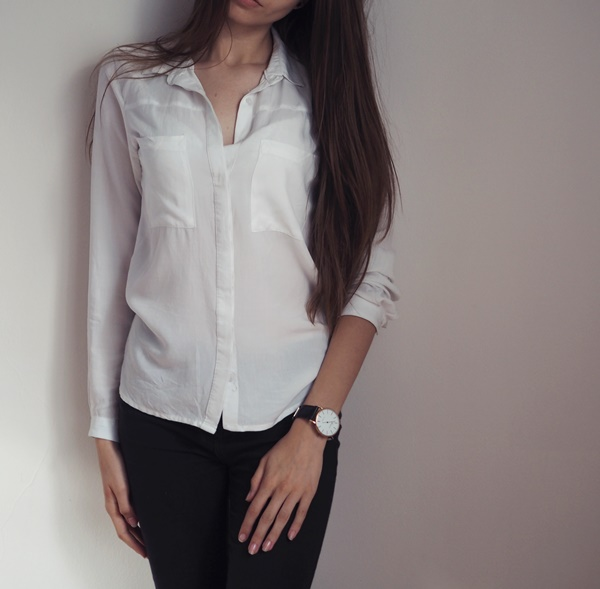 biała koszula na rozpoczęcie roku szkolnego, koszula z kieszeniami