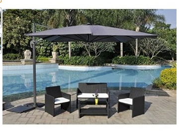prix parasol jardin inclinables rectangulaires d port s parasol pas cher promotions 2018. Black Bedroom Furniture Sets. Home Design Ideas