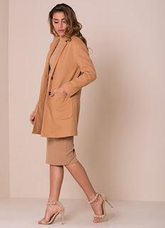 missy empire jessika camel wool boyfriend coat