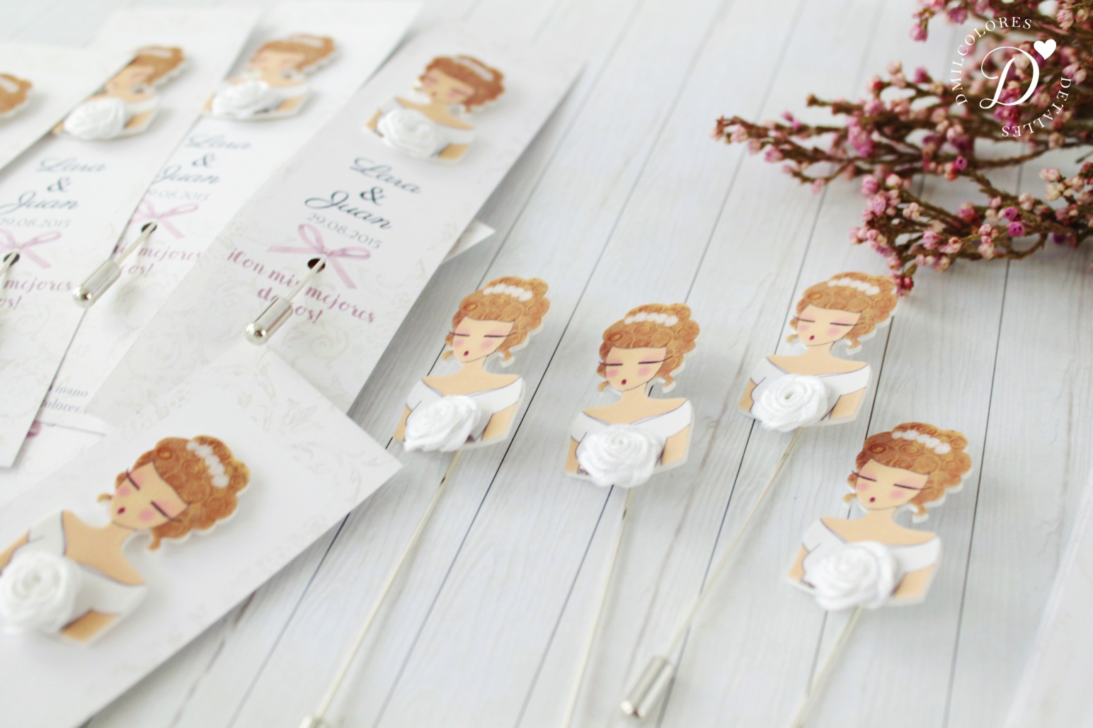 alfileres originales para boda