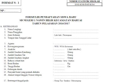 Aplikasi Data Administrasi Siswa Sekolah Dengan Format Lengkap