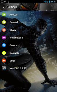 BBM MOD Spiderman Black v3.0.1.25 APK Terbaru