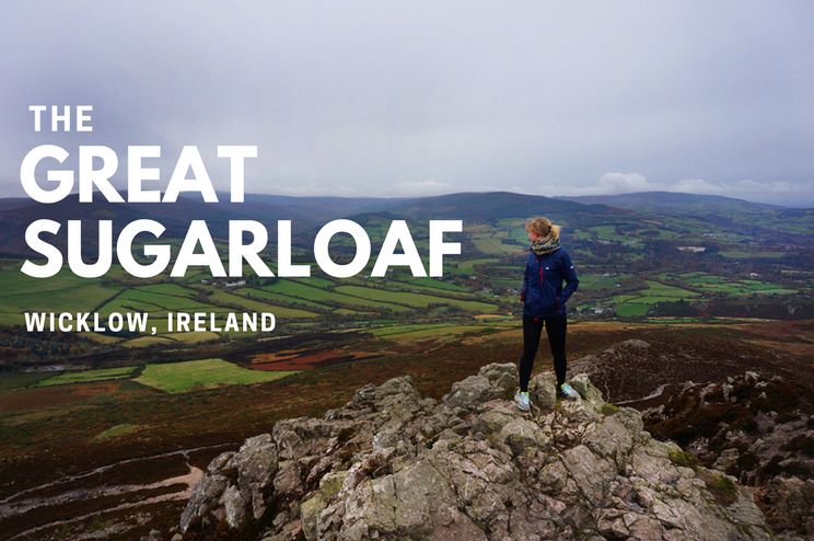 Climbing the Sugarloaf Mountain in Wicklow