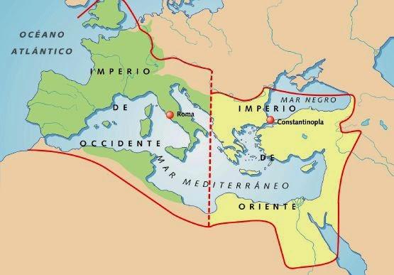 La división del Imperio Romano