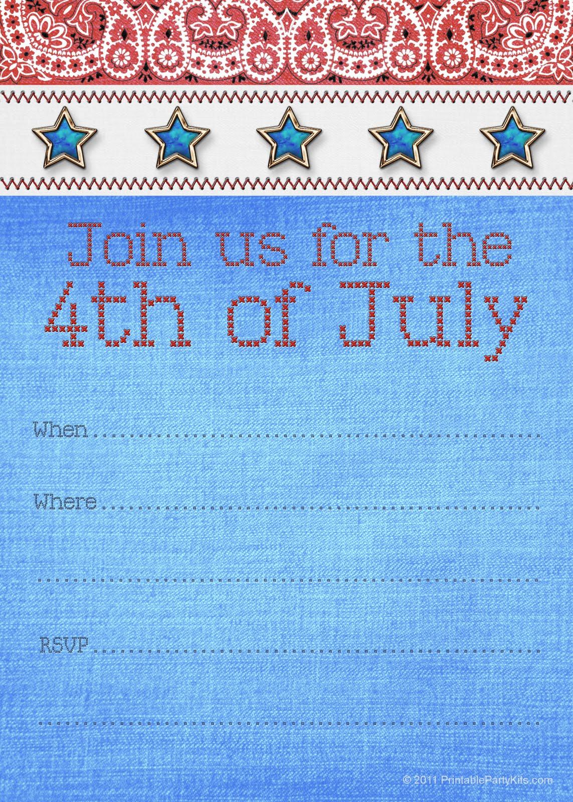 Free Printable Party Invitations May