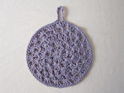 Granny-Spiration Challenge 2017, Granny Stitch Round Dishcloth, cotton yarn, crochet