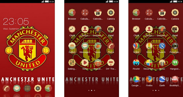 Tema Manchester United Android - Modern