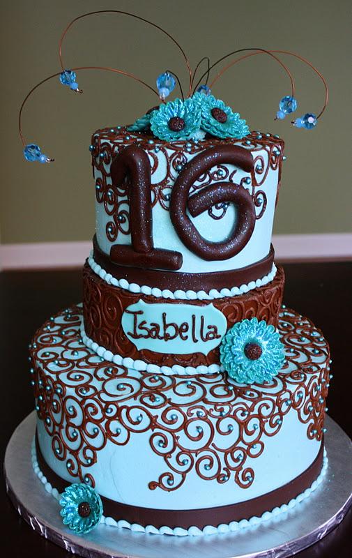 Claudine Sweet 16 Birthday Cake