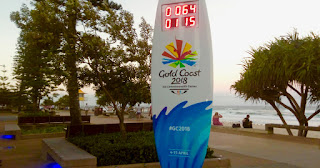 Commonwealth Games Count Down Clock Surf Board