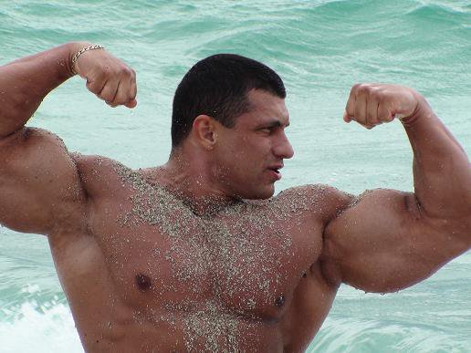 image Beefy and muscled romanian boy cums big load on cam