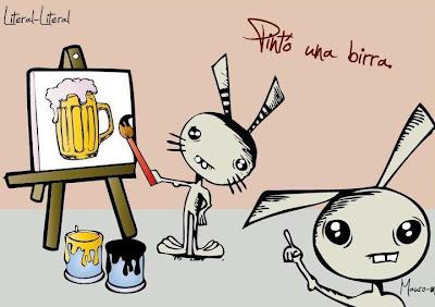 Meme humor cerveza pinto una birra