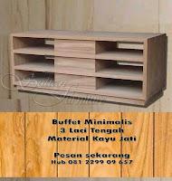 Jual Furniture Mebel Minimalis Jati Jepara Cabinet Buffet