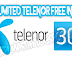 Get Unlimited Free 3G+2G on Telenor for Lifetime (2016)