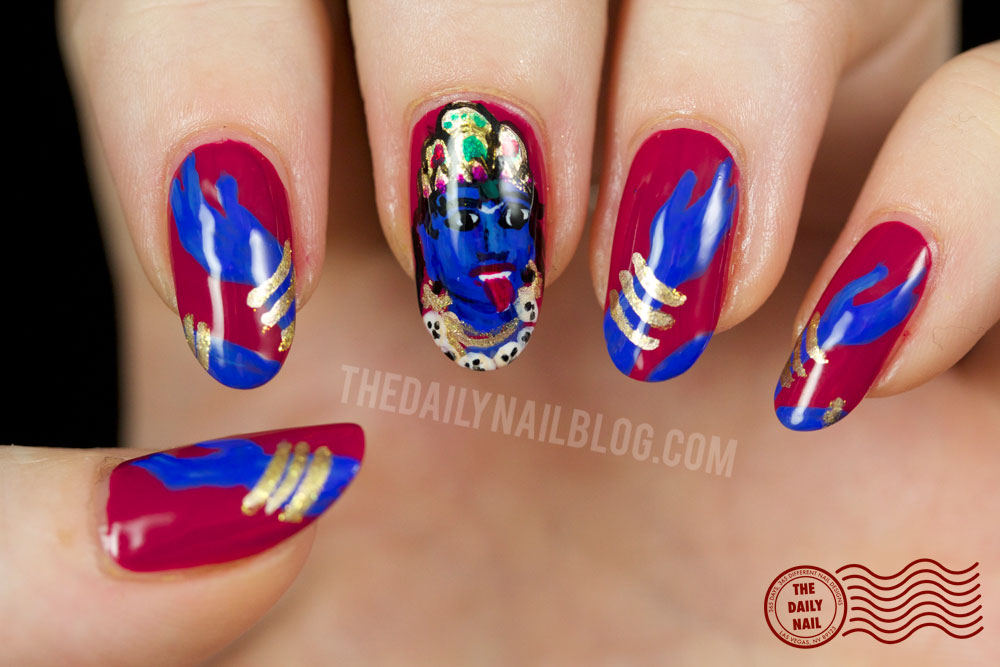 Fit for a Goddess? Nail art, kali, india