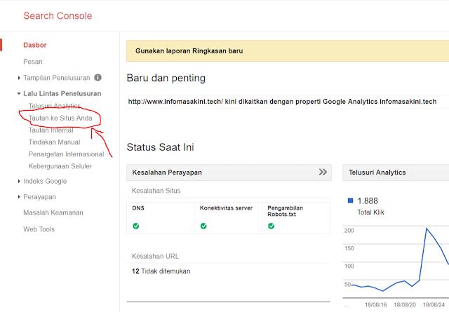 Cara Memeriksa Backlink Mudah Menggunakan Google Webmaster