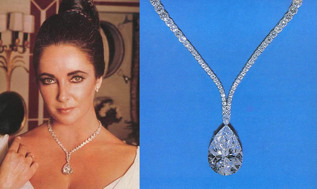 Image result for liz taylor and diamond necklace