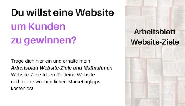 Arbeitsblatt Website-Ziele