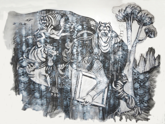 drawing Marjolijn van der Meij  artist, 2013