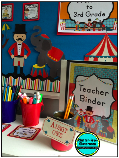 Clutter Free Classroom Carnival And Circus Themed Classrooms