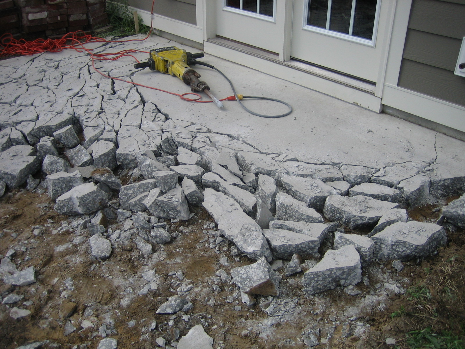 Charming Removing The Concrete Was A Loud, Grueling Process.