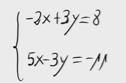 8 Sistema de dos ecuaciones con dos incognitas