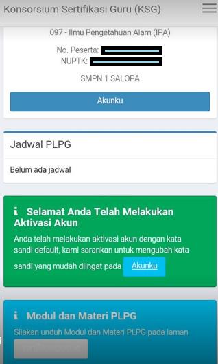 gambar https://ksg.kemdikbud.go.id/pembekalan/ Link Resmi Aktivasi Akun Konsorsium Sertifikasi Guru PLPG 2017