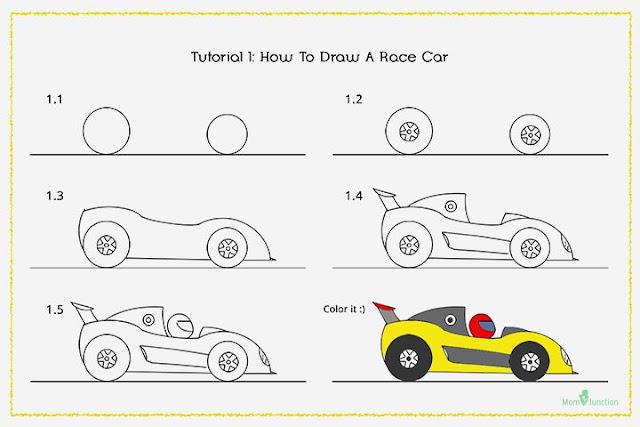 طريقة_رسم_سيارة_للاطفال