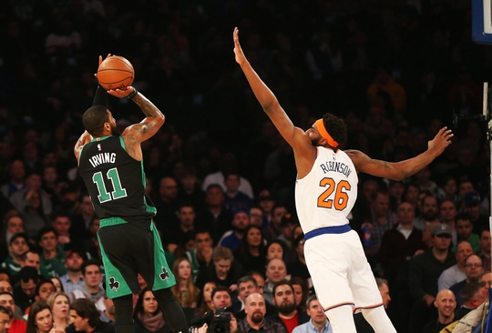 68c6b67b7f After a day full of rumors and innuendo the Boston Celtics ended on a high  note with a win on the road over the New York Knicks