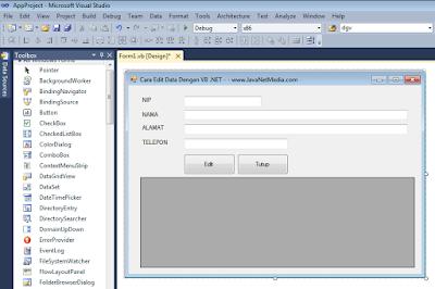 VB .NET - Cara Edit Data Pada Database