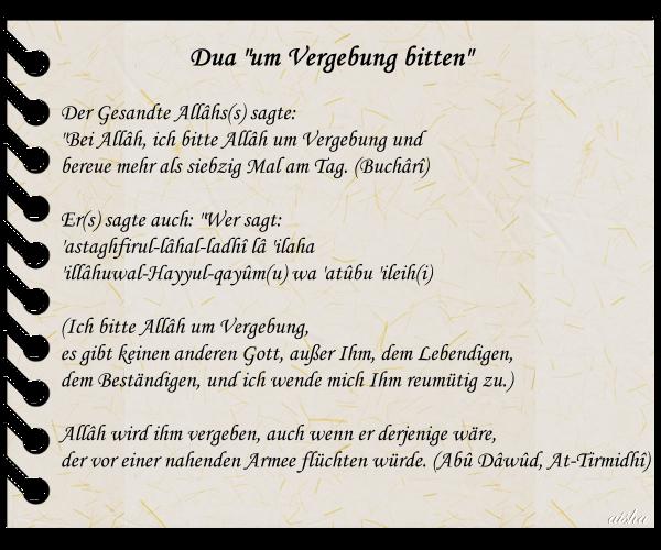Islam and Iman: Dua - um Vergebung bitten