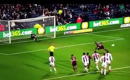 Albanian footballer kicks the worst penalty in the History