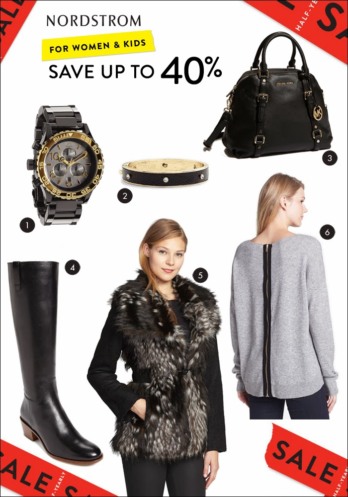 nordstrom sale, christmas gifts, holiday, nixon, anne klein, michael kors, riding boots, zipper sweater, fur coat, fur vest, satchel