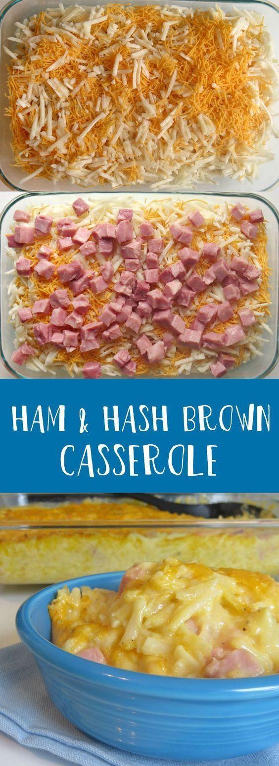 HAM HASH BROWN BREAKFâST CASSEROLE #ham #hamrecipes #brown #brownie #easyrecipes #breakfast #breakfastrecipes #breakfastideas