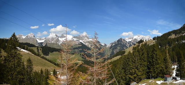 Randonnée à Jaun en Suisse