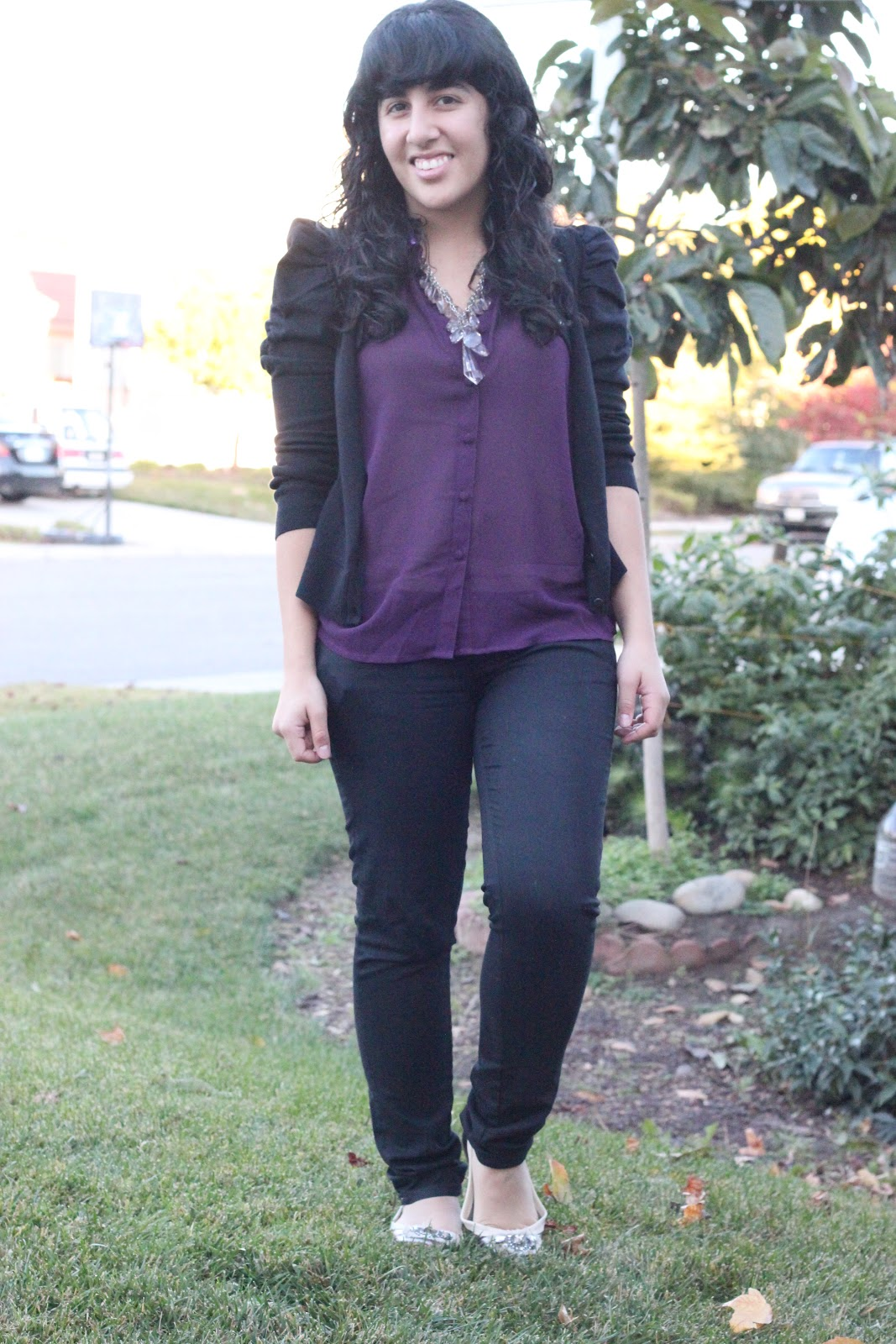 Forever 21 Button Down and Black Pants