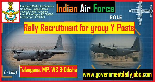 Indian Air Force Recruitment Rally 2019 for Y Group Airmen Vacancie