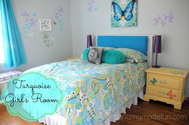 Teen Daughter room of Organizing Made Fun's home tour