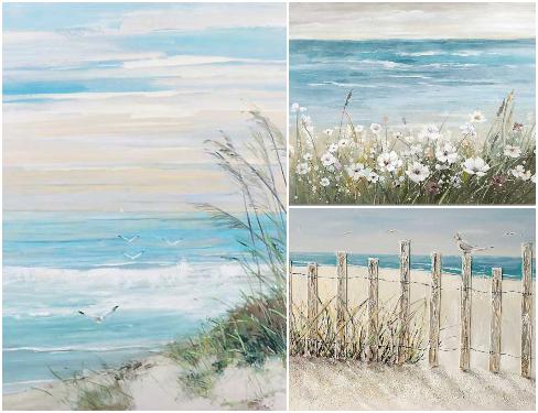 Scenic Beach Art Paintings Prints