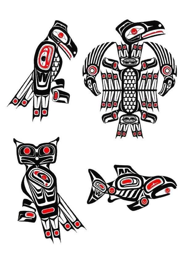 Free Amazing Styles Haida Tattoo Designs Ideas Images Photos Pictures