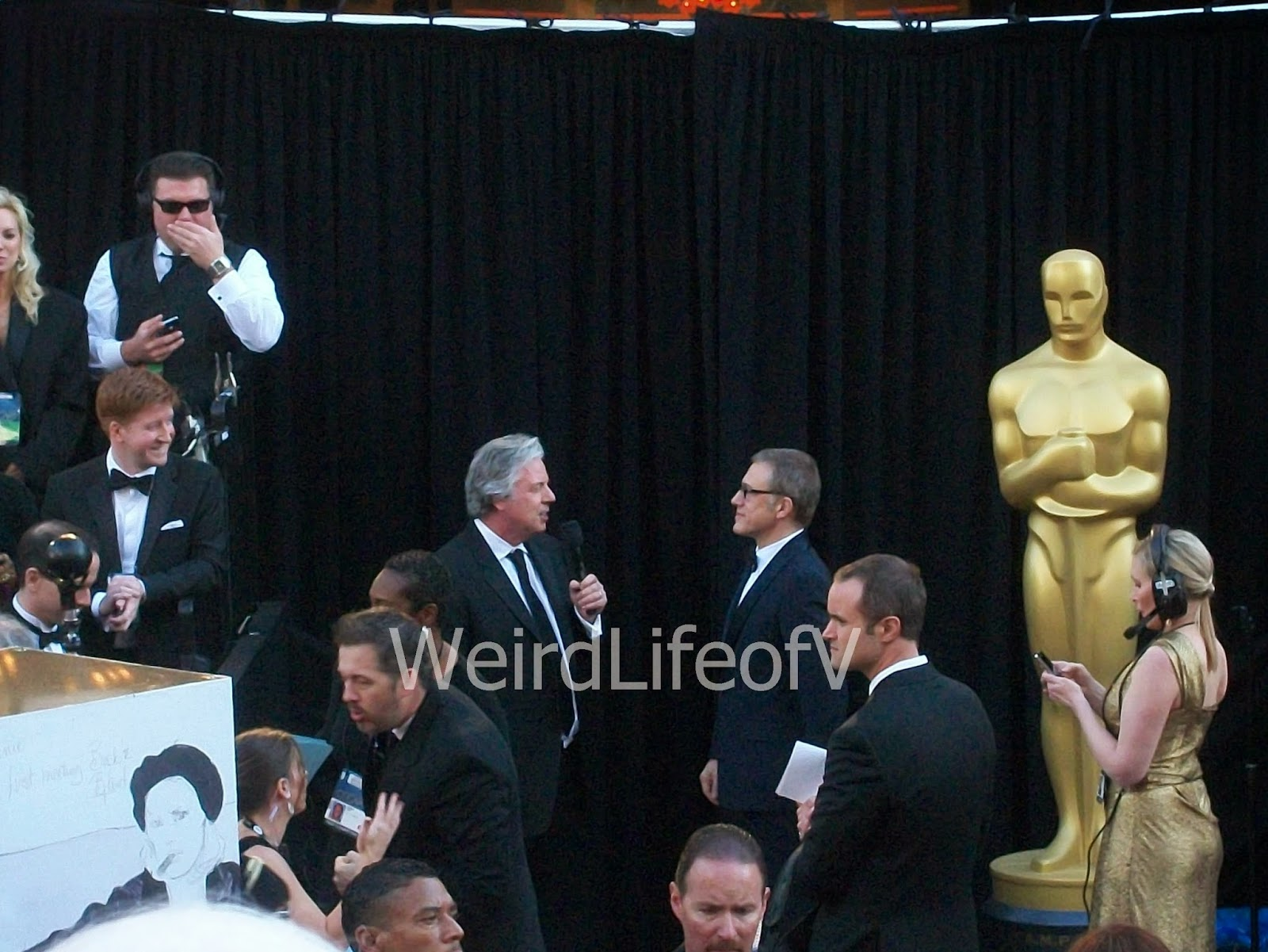 Christoph Waltz being interviewed by Chris Connelly at the 2013 Academy Awards